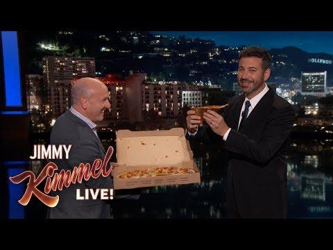 Jimmy Kimmel Tries Pumpkin Spice Pizza