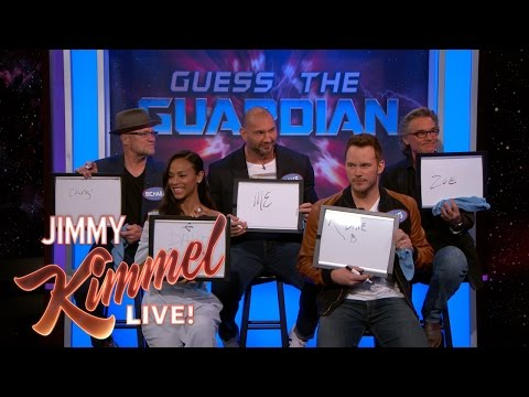 The Cast of Guardians of the Galaxy Vol 2 Test How Well They Know Each Other on Jimmy Kimmel