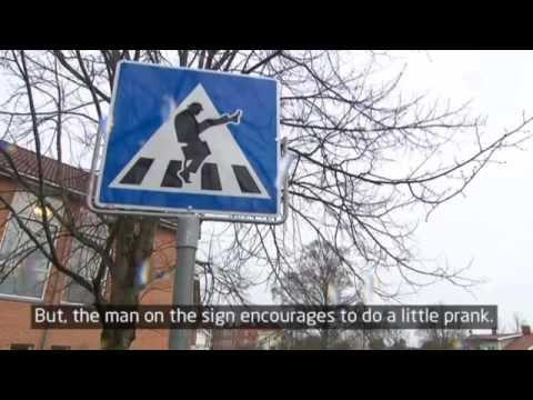 Monty Python's Silly Walk's Traffic Sign