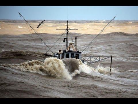 Fishing Boats In Rough Sea