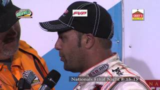 Knoxville Raceway Nationals 8-15-15 Interviews