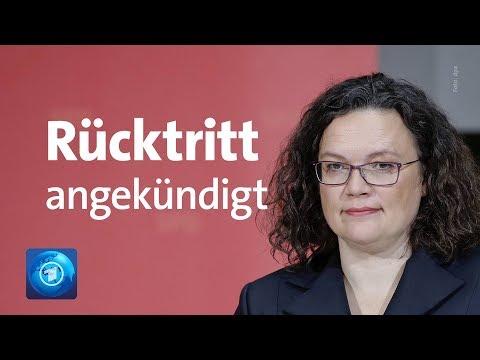 SPD: Andrea Nahles kündigt Rücktritt als Partei- und Fraktionsvorsitzende an