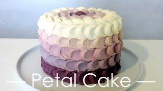 Petal Cake à la myrtille