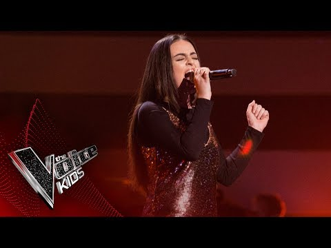 Sophia performs 'Stone Cold': Semi Final | The Voice Kids UK 2017