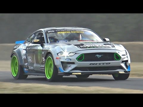Vaughn Gittin Jr.'s 2018 Ford Mustang RTR MONSTER! - 900HP Roush Yates V8 9000rpm Sounds & Show!