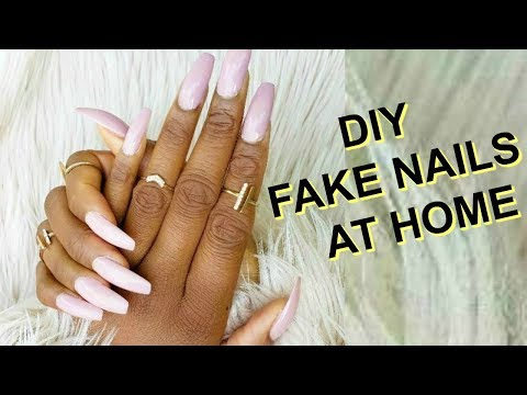 NAIL SALONs CANCELLED : HOW TO DO FAKE NAILS AT HOME - EASY MANICURE FOR BEGINNERS  OMABELLETV