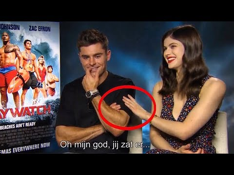 Video Zac Efron Can't Control His Affection for Alexandra Daddario download in MP3, 3GP, MP4, WEBM, AVI, FLV January 2017