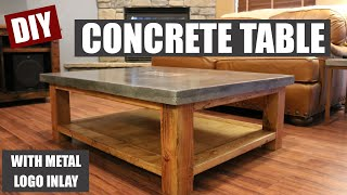 Video How To Make a Concrete Coffee Table and How to Embed a Metal Design in Concrete MP3, 3GP, MP4, WEBM, AVI, FLV Agustus 2018