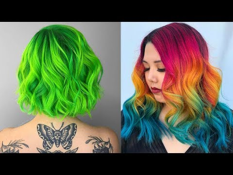 Hairstyles for short hair - Amazing Hair Color Transformations 2017  Rainbow Hair Tutorials Compilation