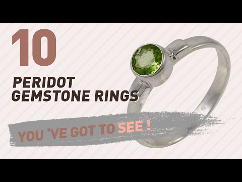 Peridot Gemstone Rings Top 10 Collection // UK New & Popular 2017
