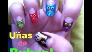 Uñas de Búhos fáciles y lindos - YouTube