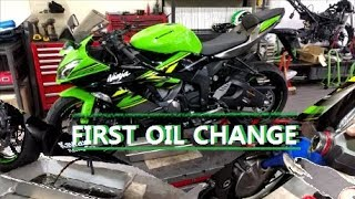 10. First Oil Change After 1000km - 2018 Kawasaki NINJA ZX 6R ABS