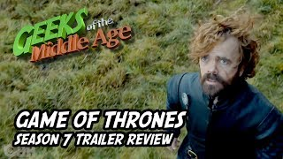We review, nee gush, at the new trailer for Game of Thrones season 7. One of our boys is not a fan. We quickly fed him to dragons.