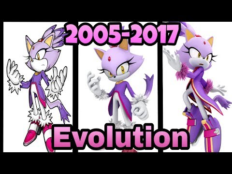 Evolution Of Blaze The Cat In Sonic Games (2005-2017)