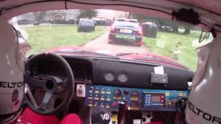 Alan Quinn & Cathal Duignan testing an Opel Manta.