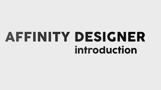 Video is intended to show some basic feel and look of new vector software - Affinity Designer. It shows some basic features and functionality, as it is described in title - introduction.Music attribution:Underground Club 2 - Jan Chmelar