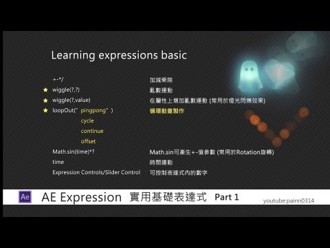 【AE中文教學 動畫篇】 實用基礎表達式 (Learning Expressions Basic T