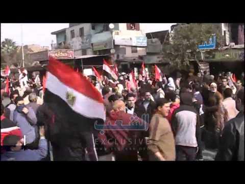 أعلام مصر تكسو انتفاضة المطرية في الذكرى الرابعة للثورة