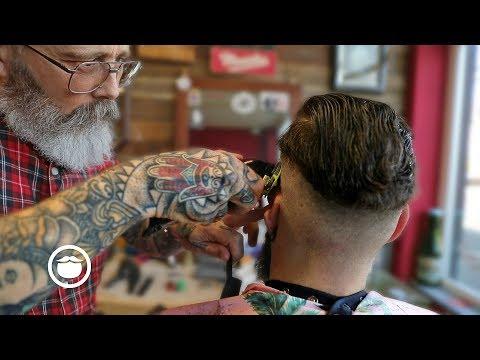 Master Barber Overhauls a Haircut & Shapes a Beard