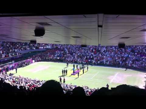 London Olympics 2012 Medal Ceremony Federer Vs Murray – Wimbledon