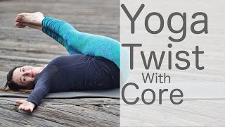 Video 30 Minute Hatha Yoga Twist with Core With Fightmaster Yoga MP3, 3GP, MP4, WEBM, AVI, FLV Maret 2018