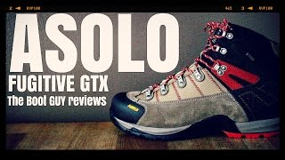 ASOLO FUGITIVE GTX CODE : 0M3400 00 [ The Boot Guy Reviews ] DETAILS UPPER : Water-resistant suede 1,6-1,8 mm + high ...