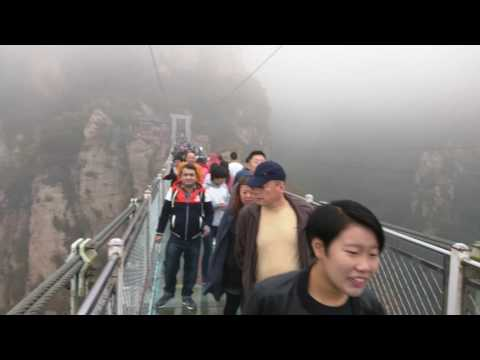 Glass Bridge fun, Beijing, China