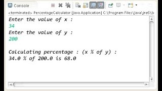 In this video i show how to calculate percentage in java with simple example