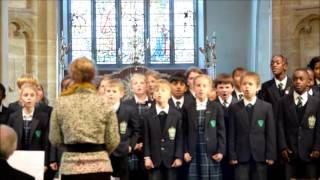 Carol Service 2016 - The Junior Choir Sings, 'Sing High, Sing Low'.