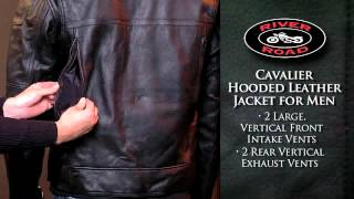 River Road Cavalier Hooded Leather Jacket for Men