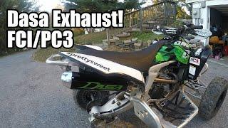 10. 2008 Kawasaki KFX 450r Update: Dasa Exhaust Fuel Customs intake Power Commander III