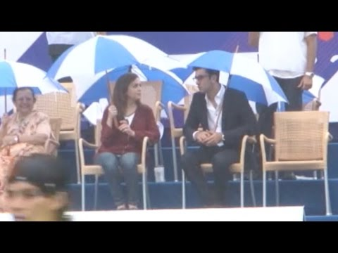 Ranbir Kapoor Watches Football Match With Nita Amb