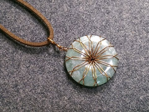 Wire Stone Donut Pendants - How to make wire jewelry 183