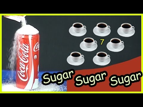 How much sugar in a can of Coke ( coca-cola ) (видео)