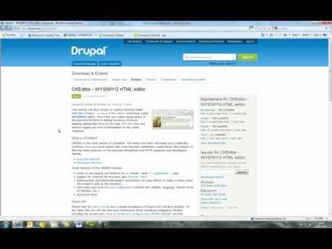 comment installer ckeditor drupal