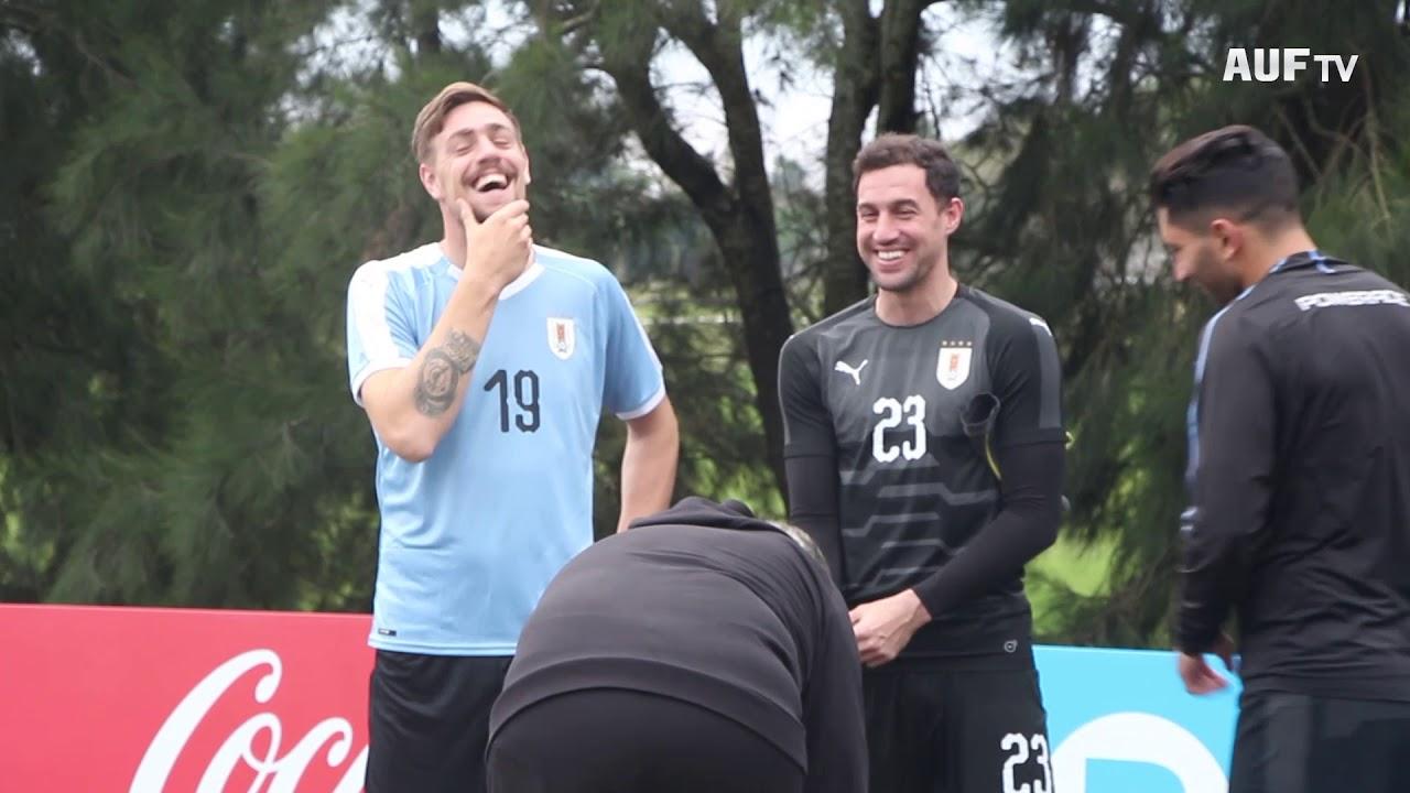 Backstage de la foto oficial de Uruguay (12/6/19)