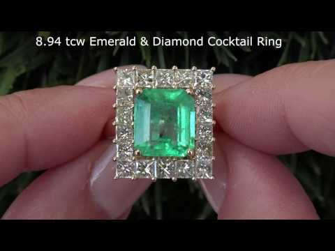 C972 8 94 tcw emerald ring