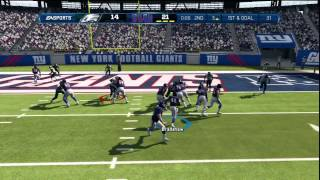 Madden 13:GIANTS Vs EAGLES Madden 13 Online Gameplay-Revenge!!!
