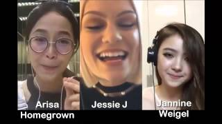 Video Flashlight - Jessie J & Arisa & Jannine Weigel (Smule Sing! Karaoke App) MP3, 3GP, MP4, WEBM, AVI, FLV Agustus 2018