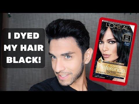 Black Hair Dye - Brown Hair Color to Black (VLOG)