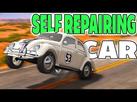 THIS CAR MAGICALLY REPAIRS ITSELF AFTER CRASHING! - BeamNG Drive Mods (видео)