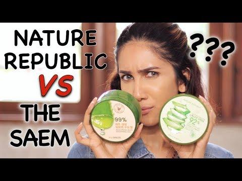 BAGUSAN MANA: Nature Republic Vs The Saem Aloe Vera Gel ?? | Suhaysalim