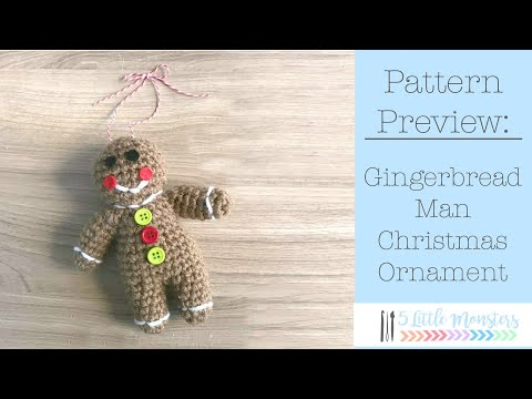 Crocheted Gingerbread Man Ornament