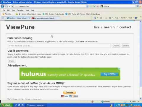 Copying and Pasting a URL into View Pure