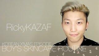 Boy's SkinCare Routine [Korean X'mas Ep]男生護膚流程 [韓國聖誕版] - RickyKAZAF - #123