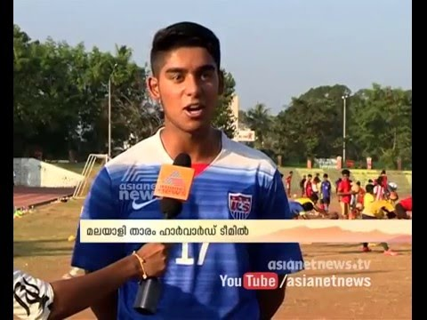 Malayali football player selected for Harvard University football team