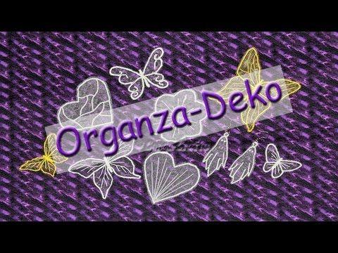 Organza Deko nähen mit der normalen Nähmaschine DIY