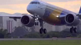 Primeiro vôo do E2 - O mais novo avião da Embraer