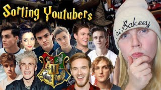 Sorting Youtubers Into Harry Potter Hogwarts Houses!