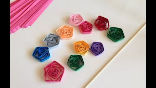quilling easy pentagons with sweker